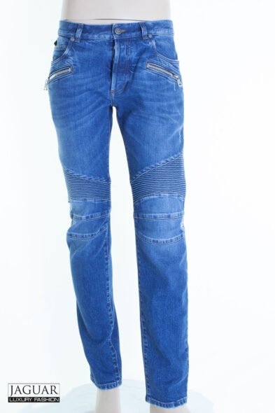 Balmain biker jeans blue