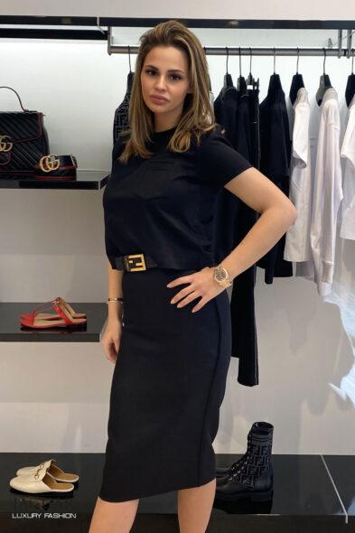 Fendi skirt black