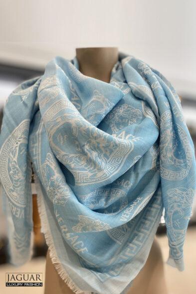 Versace scarf light blue