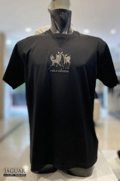 Burberry Deer Cotton Oversized T-shirt
