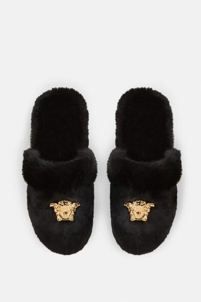 Versace Faux Fur slippers
