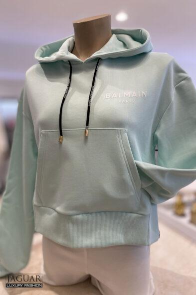 Balmain hoodie mint