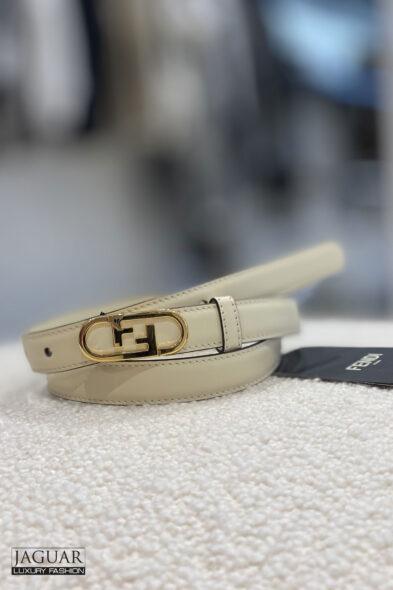 Fendi belt cream