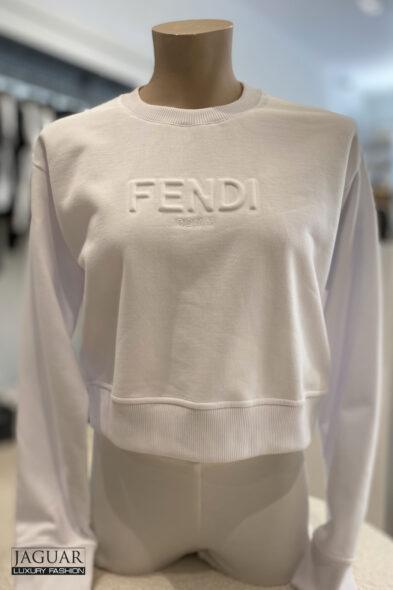 Fendi crop sweater white