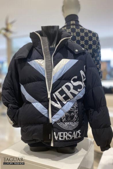 Versace logo jacket blue