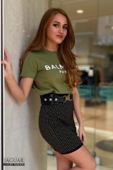 Balmain khaki t-shirt