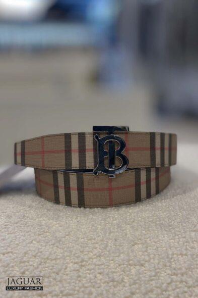 Burberry check belt