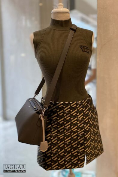 Versace lame skirt
